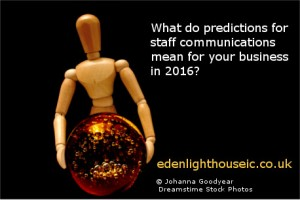 Internal communications predictions 2016 - Jaki Bell Eden Lighthouse Internal Communications